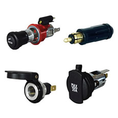 Cigarette Lighters and Din Sockets and Plugs