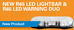 New R65 LED lightbars & LED warning duo