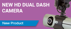 NEW Durite HD Twin Dash Camera with GPS