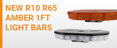 NEW R10 R65 Amber 1ft Light Bars