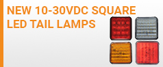 NEW 10-30VDC - Square LED Tail Lamps
