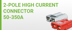 High Current Connector 50-350A