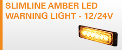 Slimline Amber LED Warning Light - 12/24V