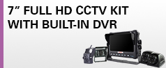 "NEW 7"" HD Integral CCTV Kit with SSD"
